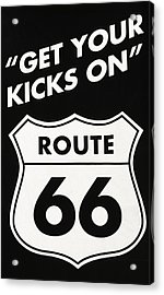 Get Your Kicks On Route 66 Acrylic Print