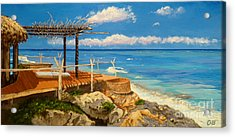 Acrylic Print featuring the painting Getaway by Chad Berglund