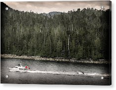 Acrylic Print featuring the photograph Getting A Tow In Canada by Davina Washington