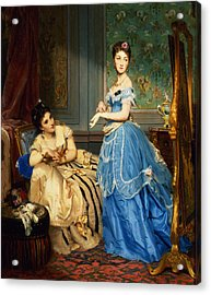 Getting Dressed, 1869 Acrylic Print by Charles Edouard Boutibonne