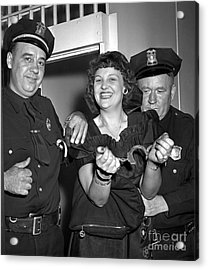 Getting Out Of Jail 1948 Acrylic Print by The Harrington Collection