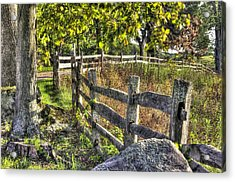Acrylic Print featuring the photograph Gettysburg At Rest - Late Summer Along The J. Weikert Farm Lane by Michael Mazaika