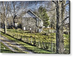 Acrylic Print featuring the photograph Gettysburg At Rest - Sarah Patterson Farm Field Hospital Muted by Michael Mazaika