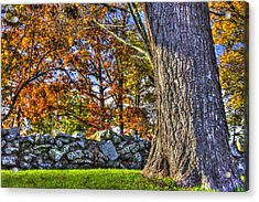 Acrylic Print featuring the photograph Gettysburg At Rest - Stone Fence Near Old Cyclorama Visitors Center by Michael Mazaika