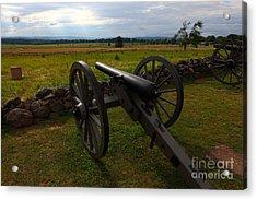 Gettysburg Battlefield Historic Monument Acrylic Print by James Brunker