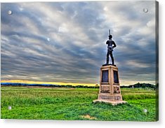 Gettysburg Battlefield Soldier Never Rests Acrylic Print