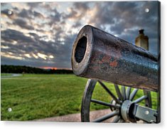 Gettysburg Canon Closeup Acrylic Print by Andres Leon