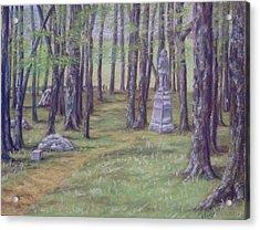 Gettysburg Pathway Acrylic Print by Joann Renner