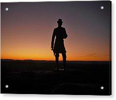 Gettysburg Sunset Acrylic Print by Ed Sweeney