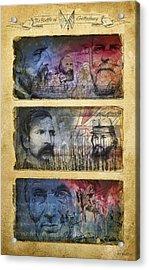 Acrylic Print featuring the digital art Gettysburg Tribute by Joe Winkler