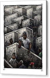 Ghetto Acrylic Print by Chris Van Es