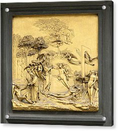Ghiberti's Panel Of The Creation Acrylic Print by Sheila Terry