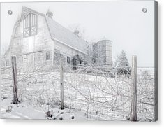 Ghost Barn Acrylic Print by Bill Wakeley