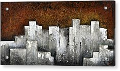 Ghost City Acrylic Print by Shadia Derbyshire