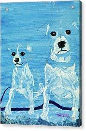 Ghost Dogs Acrylic Print by Terry Lewey