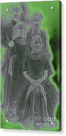 Ghost Family Portrait Acrylic Print by First Star Art
