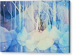 Acrylic Print featuring the painting Ghost Forest by Teresa Ascone