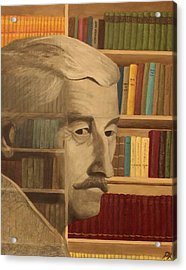Ghost In The Library  William Faulkner Acrylic Print by Patrick Kelly