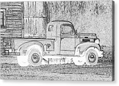 Ghost Of A Truck Acrylic Print by Jean Noren