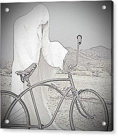Ghost Rider Sketch Acrylic Print by Marcia Socolik