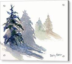 Ghost Spruce Acrylic Print by Betsy Bear