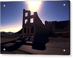 Ghost Town - Bank Closed Acrylic Print by Maria Arango Diener