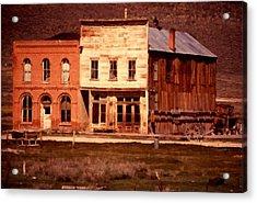 Ghost Town Bodie California Acrylic Print by Dick Rowan