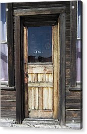 Ghost Town Handcrafted Door Acrylic Print by Daniel Hagerman