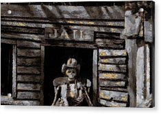 Ghost Town Jail Acrylic Print by Dan Sproul