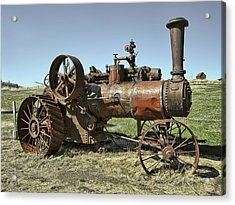 Ghost Town Steam Tractor Acrylic Print
