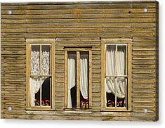 Ghost Town Windows Acrylic Print by Shelley Dennis