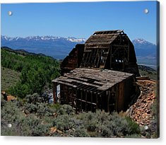 Ghost Town With View Of Eastern Sierras Acrylic Print