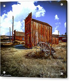 Ghost Towns In The Southwest Acrylic Print by Bob and Nadine Johnston