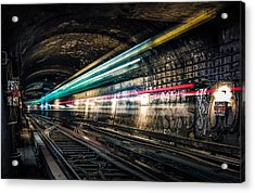 Ghost Train Acrylic Print by Xavier Liard