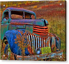 Acrylic Print featuring the photograph Ghost Truck by Alana Ranney
