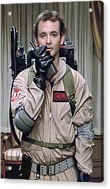 Acrylic Print featuring the painting Ghostbusters - Bill Murray Artwork 2 by Sheraz A