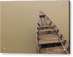 Ghostly Boat Acrylic Print by David Warrington