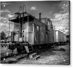 Ghostly Caboose Acrylic Print by James Barber