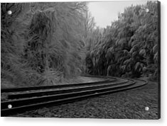 Acrylic Print featuring the digital art Ghostly Curves by Kelvin Booker