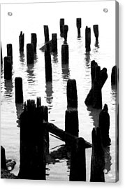 'ghostly Pilings' Acrylic Print