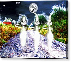 Acrylic Print featuring the digital art Ghosts by Daniel Janda