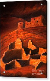 Ghosts Of White House Ruins Acrylic Print by Jerry McElroy