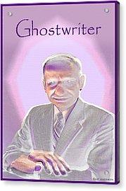 Ghostwriter Acrylic Print by Clif Jackson