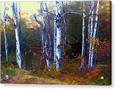 Acrylic Print featuring the photograph Ghoul In A Halloween Forest by Wayne King