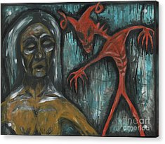 Ghouls At The Cemetery Acrylic Print by Marisol McKee