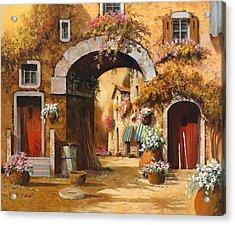Giallo Arancio Acrylic Print
