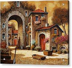 Giallo Acrylic Print by Guido Borelli