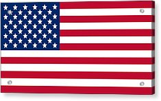 Giant American Flag Acrylic Print by Ron Hedges