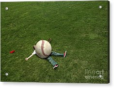 Giant Baseball Acrylic Print by Diane Diederich