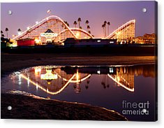 Acrylic Print featuring the photograph Giant Dipper At Dusk by Theresa Ramos-DuVon